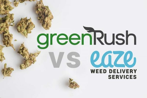 Greenrush vs Eaze weed delivery review