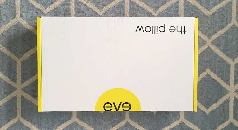First image from our eve pillow review unboxing