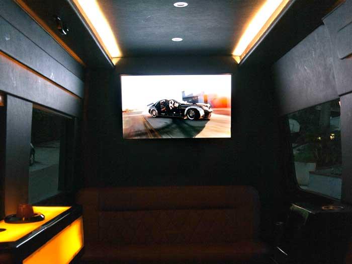 Take a peek inside the Swoop van