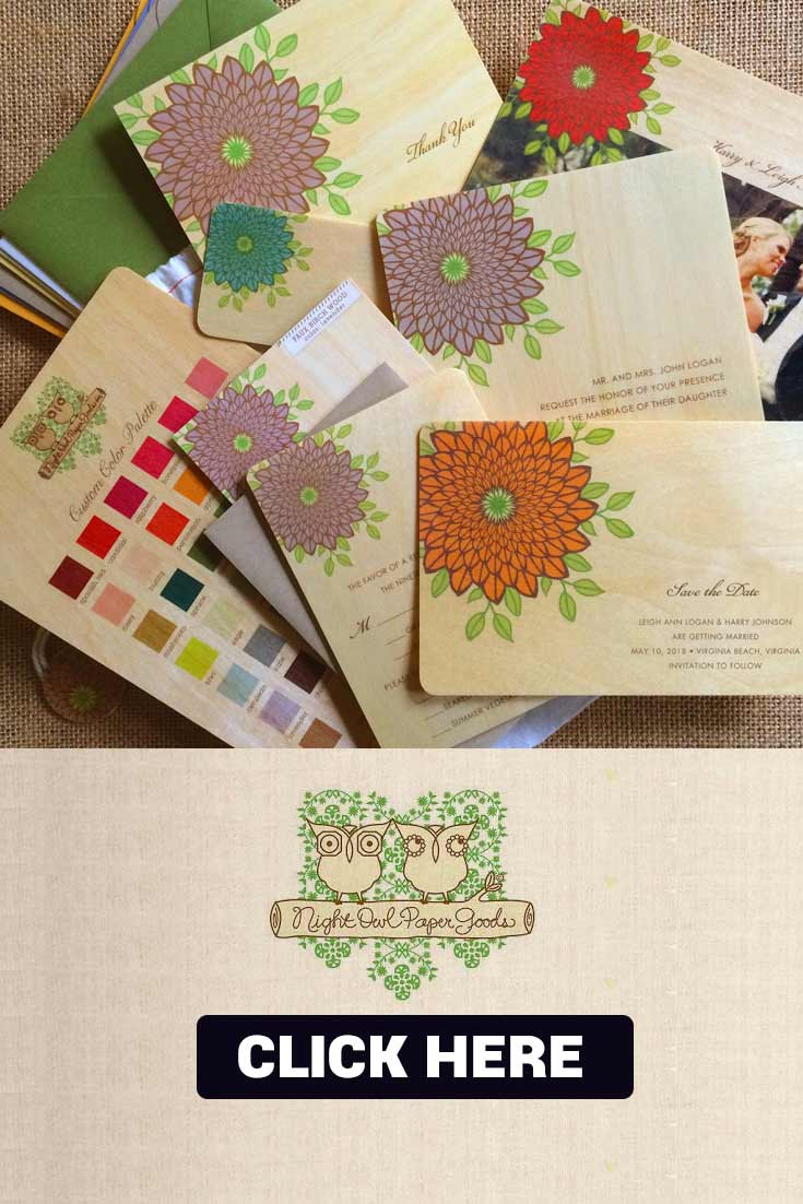 Night Owl Paper Goods Wedding Invite