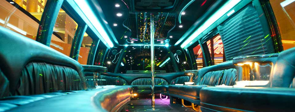 The Inside of the Turnt Up Party Bus