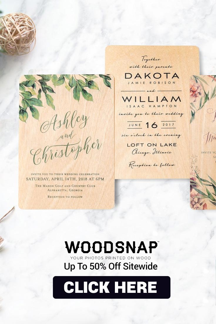 WoodSnap Has The Most Engraved Wooden Wedding Invites