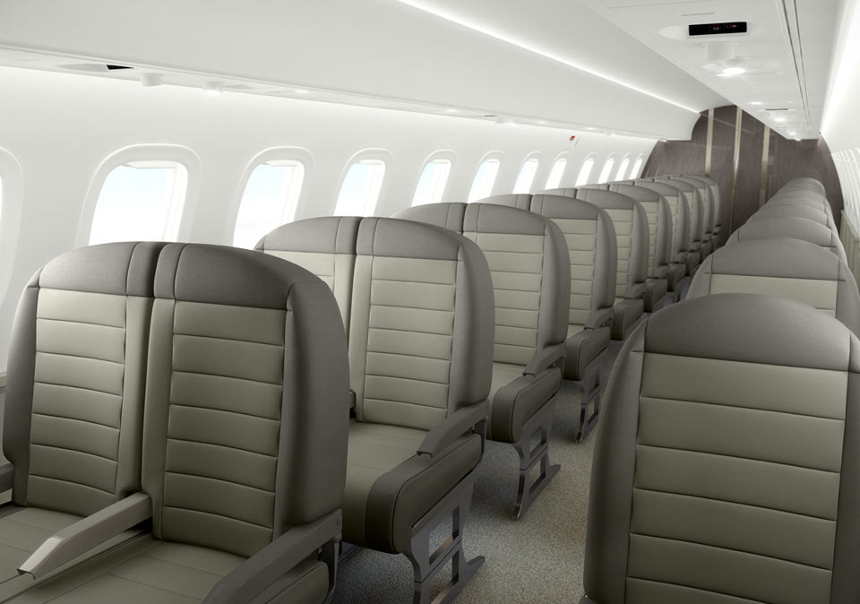 JetSuite X Review Interior of the plane