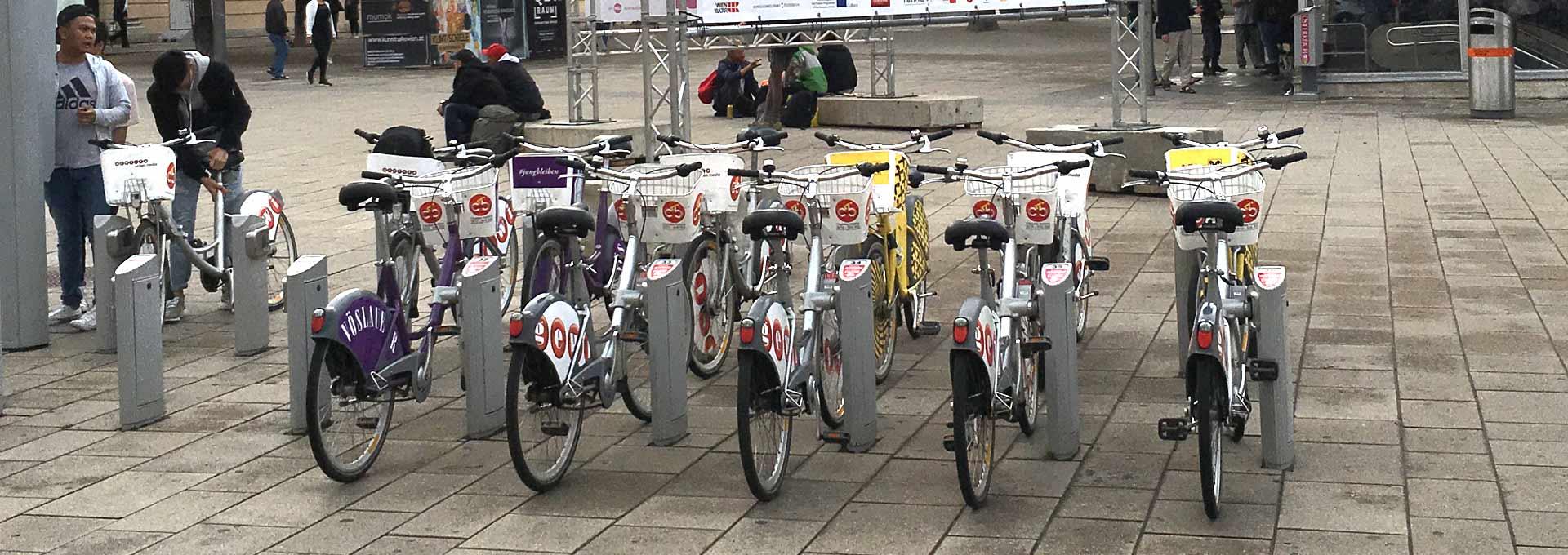 Using the Free City Bike in Vienna Austria