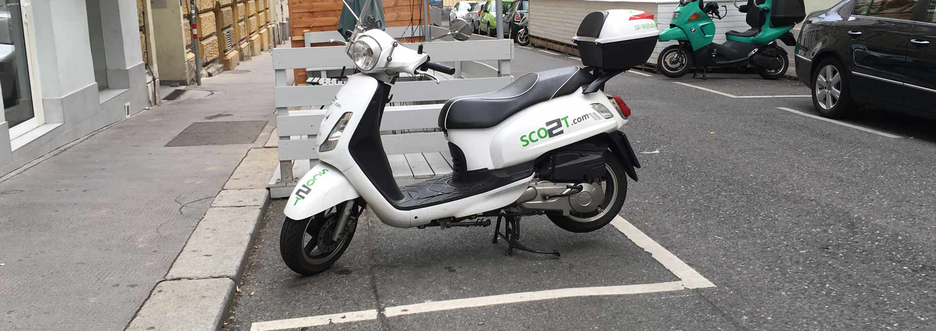 Using on demand scooters in Vienna Austria