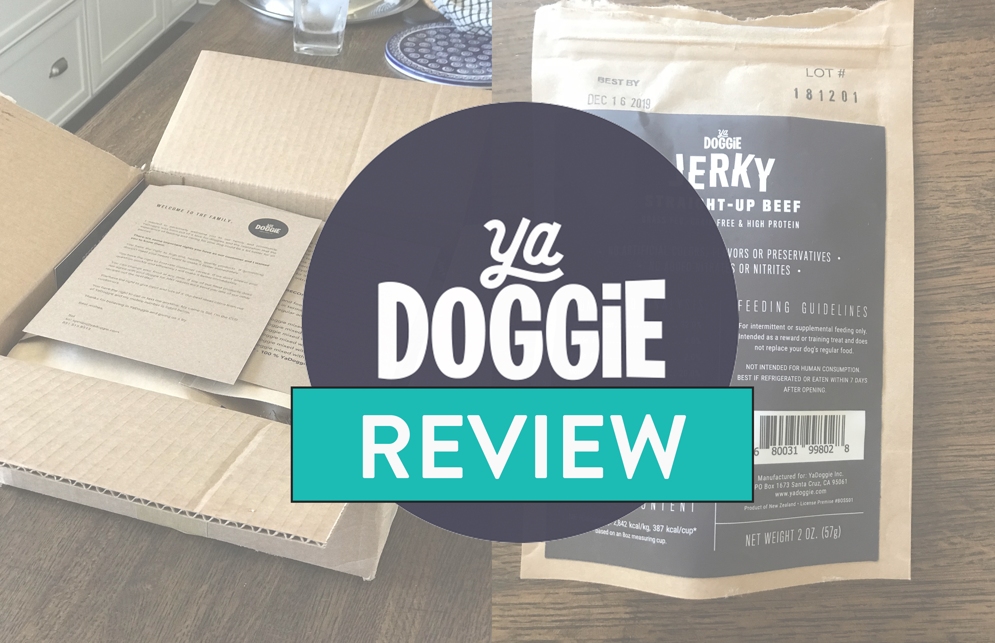 YaDoggie Review : An unboxing of the Ya Doggie subscription box for dogs