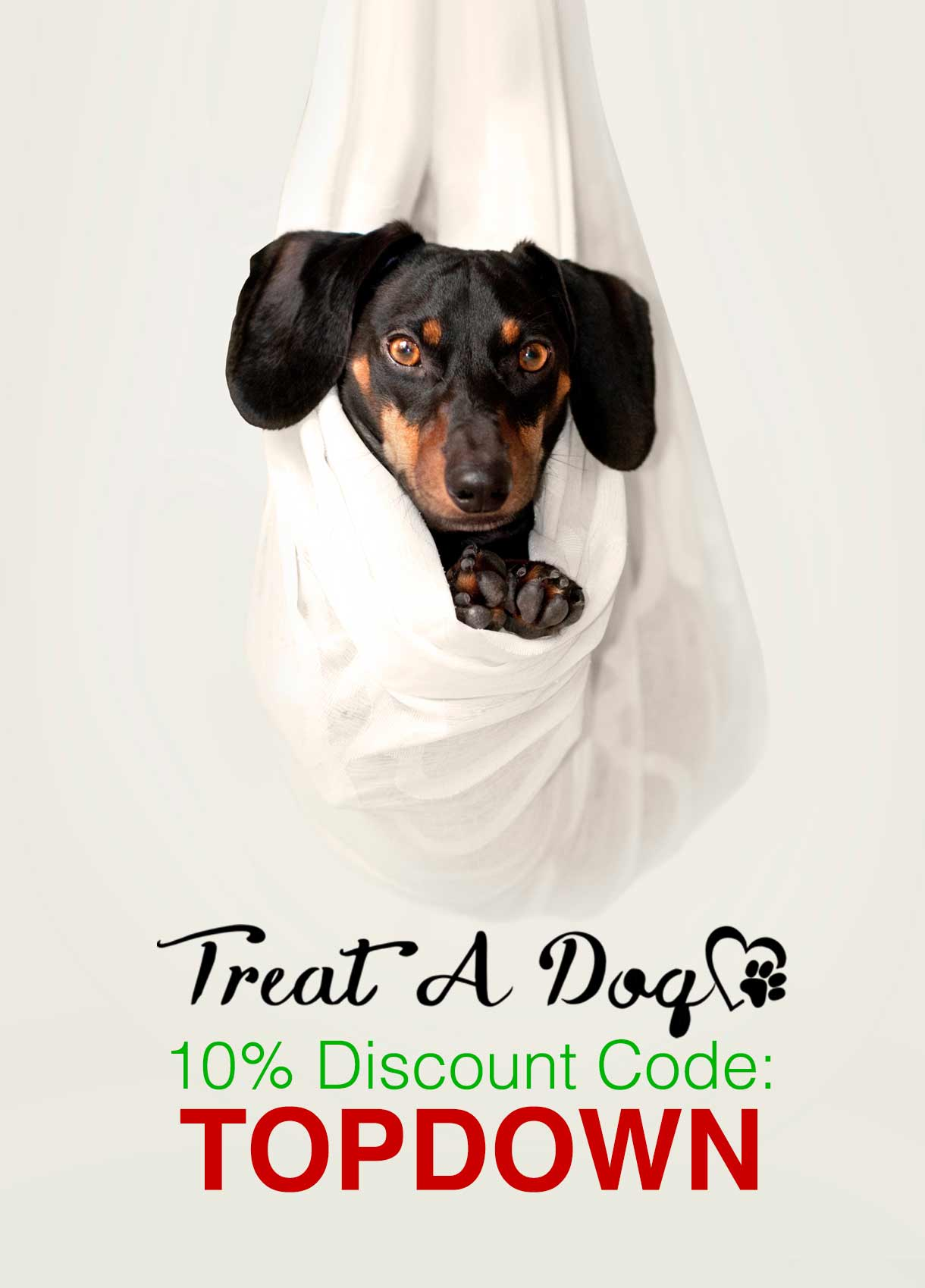10% Treat A Dog Discount Code: TOPDOWN