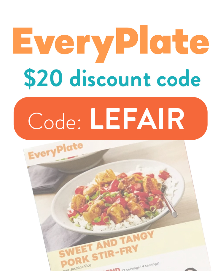 EveryPlate Discount Code | $20 with code: LEFAIR