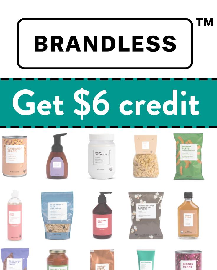 Brandless Promo Code | Get $6 free