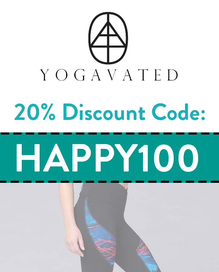 Yogavated Discount Code | 20% off with code: HAPPY100
