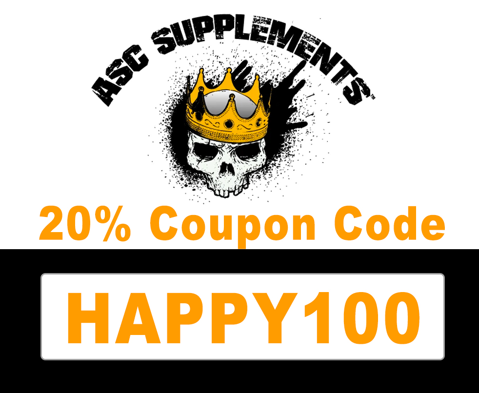 20% off ASC Supplements Discount Code: HAPPY100