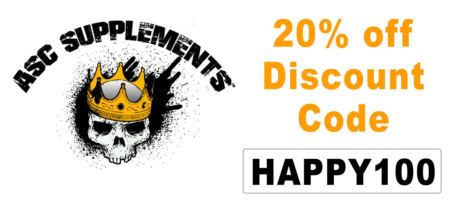 ASC Supplements Discount Code: HAPPY100