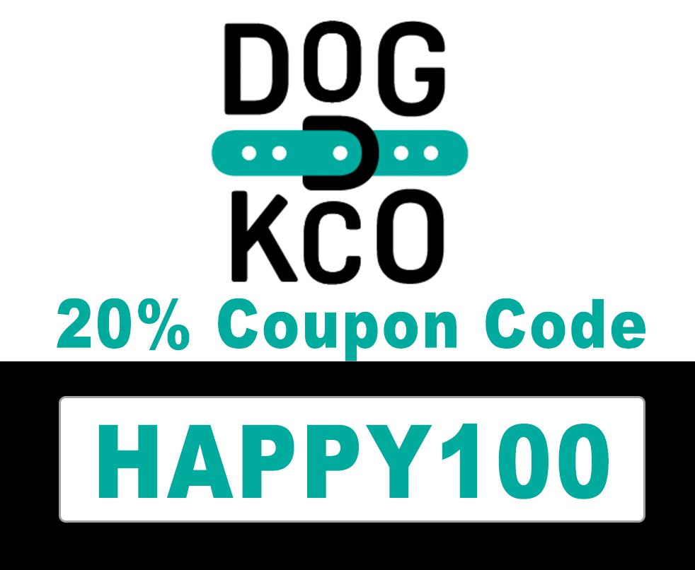 Dogkco Coupon Code | 20% off code: HAPPY100