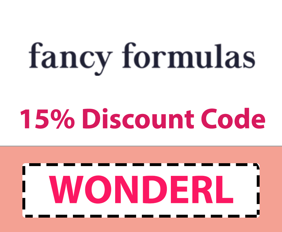 Fancy Formulas Discount Code | 15% off: WONDERL