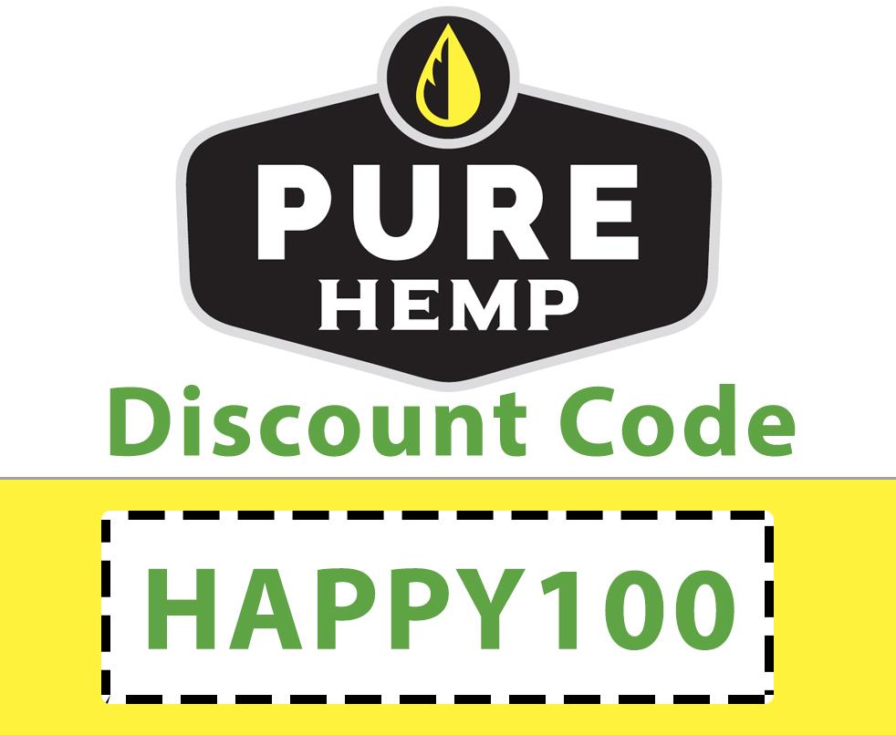 Pure Hemp CBD Discount Code | Code: HAPPY100