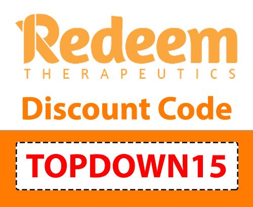 Redeem Therapeutics Discount Code | Code: TOPDOWN15