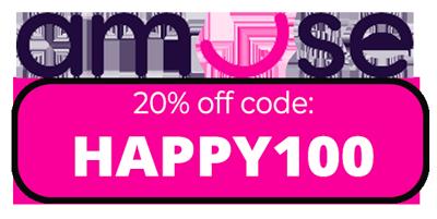 20% off Amuse weed promo code: HAPPY100