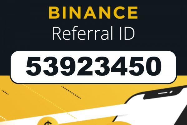 Binance Referral ID Bonus Code: 53923450